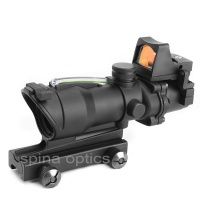 SPINA OPTICS Hot Sell Cheap Hunting Tactical ACOG 4x32 Cross Sight Scope Real Green Fiber