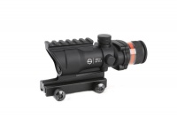 Tactical acog style 4x32 rifle scope Red Optical fiber acog style Hunting shooting