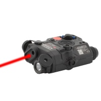 SPINA OPTICS EX396 LA-5 Battery Case with Red Laser LED Flashlight Hunting Accessory Airsoft Laser