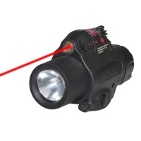 SPINA OPTICS Tactical Red Dot Laser M6 LED Flashlight with 5mW Powerful Laser Sight Set