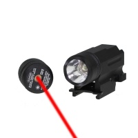 SPINA OPTICS 1W Rifle Scope Mount Mini LED Flashlight With Red Laser Sight