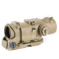 SPINA OPTICS 4x32F Optic Red Dot Sight with Magnified Scope Illuminated Cross Reticle scopes