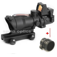 SPINA OPTICS ACOG 4X32 Rifle Scope Optic Sight Airsoft Scope Real Green Red Fiber Sight