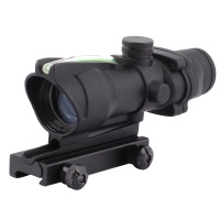 SPINA OPTICS Tactical ACOG 1X32 Black Color Green Dot Sight Scope Optics Real Green Fiber Green Dot