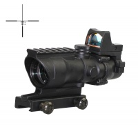 SPINA OPTICS Tactical RifleScope Acog 4x32 Red Green Illumination Red Dot with Markings