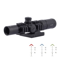 SPINA OPTICS 1.5-4X30 Tactical arisoft Rifle Scope Tri-Illuminated Chevron Recticle & PEPR Mount