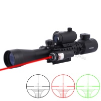 SPINA OPTICS 3-9x40 EG Red Green Illuminated With Red Laser Sight And Holographic Dot Sight