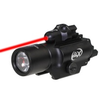 SPINA OPTICS  Flashlight X400 Night Evolution  Light with Red LaserFit 20mm Picatinny Weaver Rail