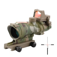 SPINA OPTICS ACOG 4x32 Red Fiber Illuminated RMR Red Dot Combo (AT/CP)