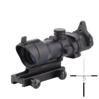 SPINA OPTICS ACOG 4x32 Optical Rifle Scope Real Red Optic Fiber Black AO5314