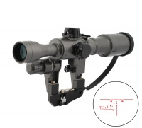 SPINA OPTICS  6x36 SVD First Focal Plane Sniper Rifle Scope Fit AK 47 red  Sight Rifle Scope