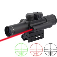 SPINA OPTICS Tactical Compact Laser Riflescope M6 4X25 with Red Laser Hunting Scope