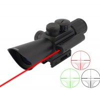 SPINA OPTICS 4X30 M7 Adjustable Short Sighting Rifle Scope with Red Laser for 22mm Rail