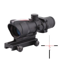 SPINA OPTICS  Optic Sight ACOG 4X32 Airsoft Scope Real Red Fiber Riflescope