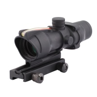 SPINA OPTICS ACOG 1X32 Tactical Red Dot Sight Real Red  Fiber Optic Riflescope