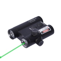 Outdoor LED Flashlight Laser Pointer Green Compact Tactical Green Dot Laser Sight Laser Cartridge wi
