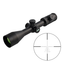 SPINA OPTICS 4-16X50 Optical Rifle Mirror Red and Green Backlit Mesh Fiber Optic Sight Hunting