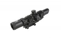 SNIPER Hunting Riflescope 1-4X28 Tactical Optical Sight RGB Illuminated Rifle Scope