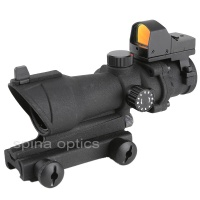 SPINA OPTICS Red Dot ACOG 4x32 Optical Rifle Scope Spotting for gun Red / Green Reticle
