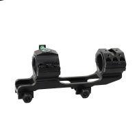 Dual rail ring mounting range 30mm and 25.4mm rail support with spirit bubble for hunting rifle