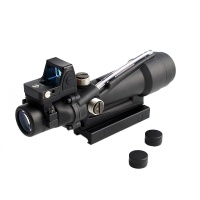 ACOG tactical sight 3.5x35 rifle sight real red green fiber optic sight