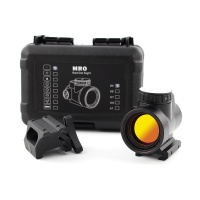 Tactical NEW MRO Red Dot Sight Scope HD 1X Reflex Sight With High and Low Picatinny Rail Mount Base