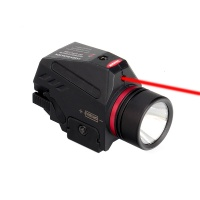 150 Lumens Picatinny Rail Mount Tactical LED Flashlight and Red Laser Sight for Hunting Pistols